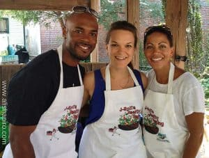 MVP Jimmy Rollins and I teach healthy eating!