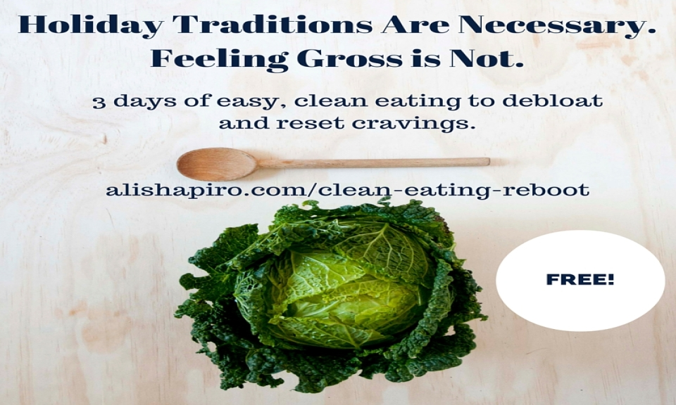 Debloat and knock out cravings with my free 3 day clean eating reboot
