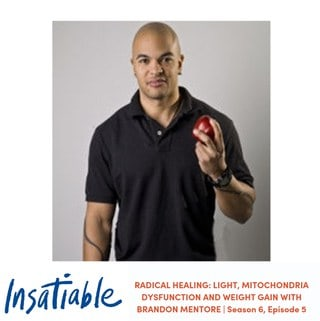 image Insatiable podcast Brandon Mentore radical healing light mitochondria dysfunction weight-gain
