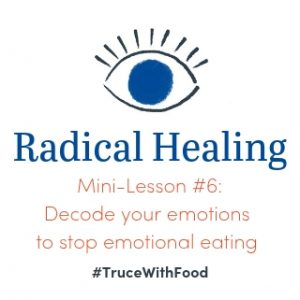 Decode emotions to stop emotional eating