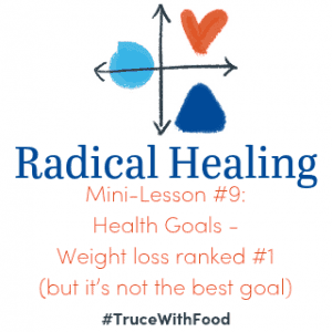 Health Goals: Weight loss ranked #1 (but it's not the best goal)